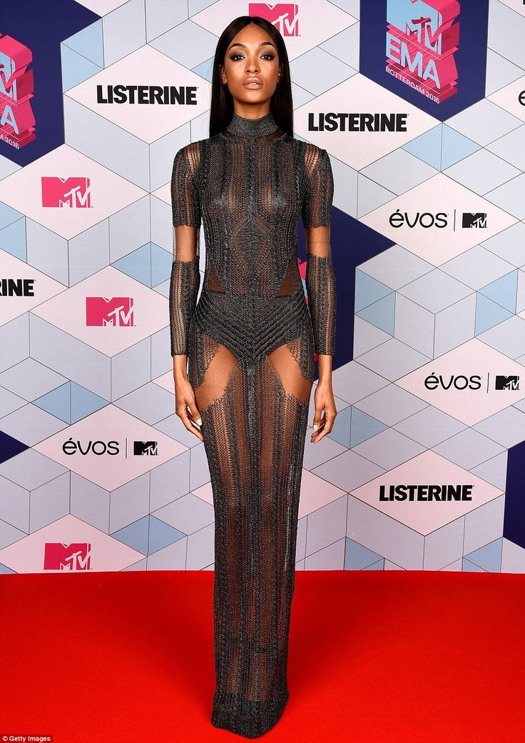 Jourdan Dunn at the MTV EMA at the MTV EMA's in Rotterdam