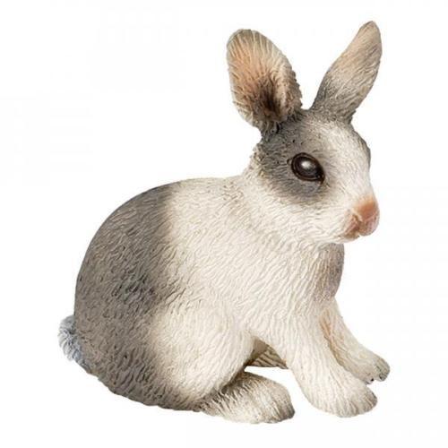 Schleich-Farm-Life-Kaninchen-Sitzend-Hase-Haeschen-Bauernhof-Spielfigur-4-5-cm