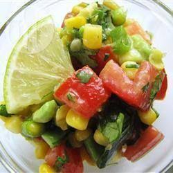 Mexicaanse salade met limoendressing @ allrecipes.nl