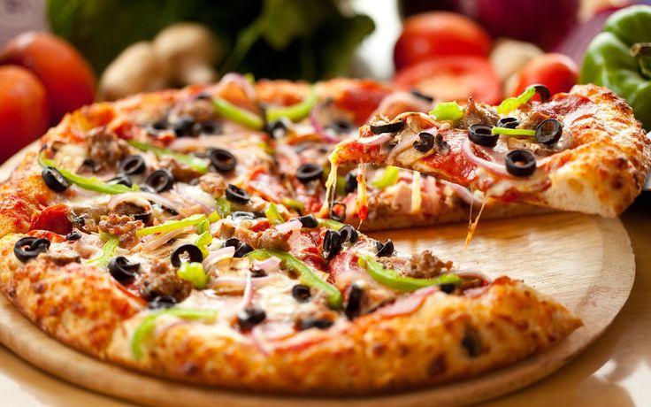 een lekkere pizza
