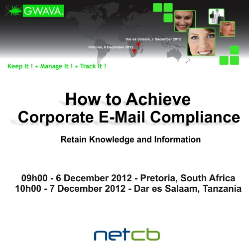 Please RSVP and share the Corporate Compliance with E-Mail Archiving (Tanzania)!