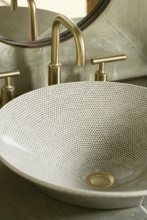 Boucle Sink Purist Faucet With A Shape Inspired By Washbasins Of Past Eras And A Pattern That Recalls Tweed Kohler Purist Small Bathroom Sinks Bathroom Faucets