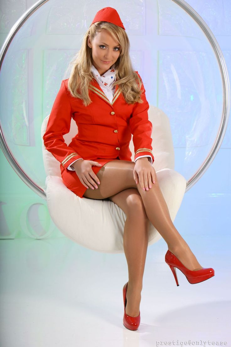 image Airline hostess with nice tits