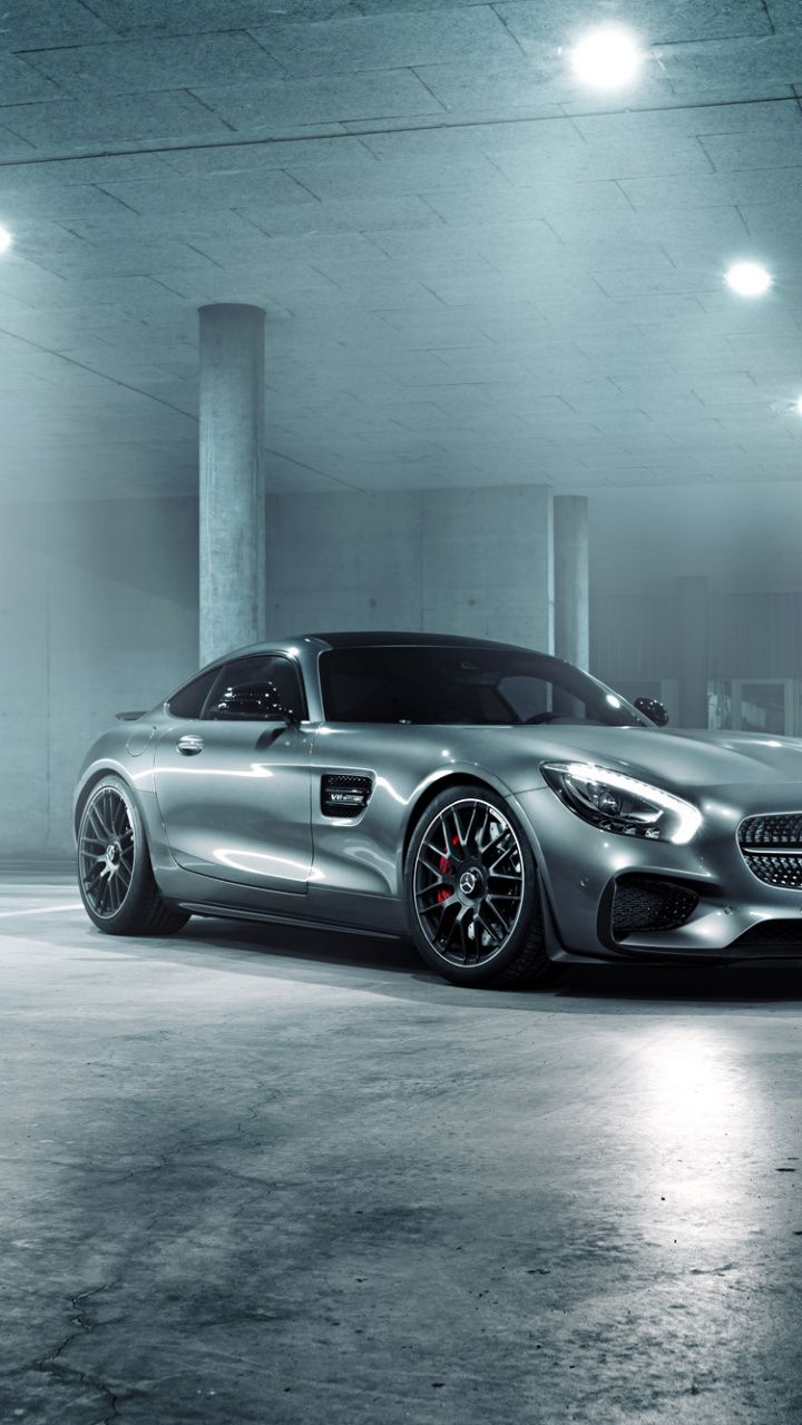 Mercedes Amg Gt S Silver Luxury Car 2018 720x1280 Wallpaper