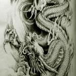 Oriental Dragon Tattoo Style (27)