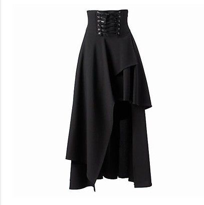 Saias Direct Selling Rijk Asymmetrische Klinknagel enkellange Mode Tutu Saia Nieuwe Rok Gothic Lolita En Onregelmatige Bandage in 2016 Robe Party Dresses Plus Size New Summer Fashion Foreign Trade In Europe And America Sleeveless Ass Tight Collar Lac van rokken op AliExpress.com | Alibaba Groep