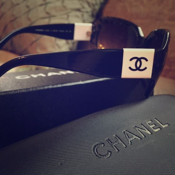 Chanel sunglasses Chanel sunglass, slightly used. With original box and papers. CHANEL Accessories Sunglasses