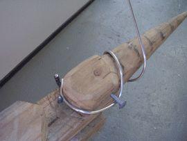 garden spiral Wind-Spinner being made