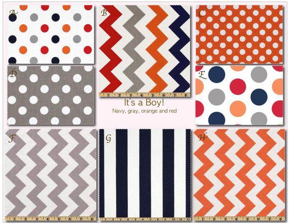 Crib Bedding Design Your Own Crib Set It's a Boy! by MissPollysPieceGoods  https://www.etsy.com/shop/MissPollysPieceGoods