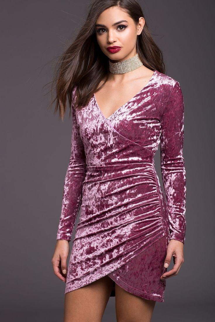 Excepcional Vestido De Cóctel De Terciopelo Galería - Vestido de ...