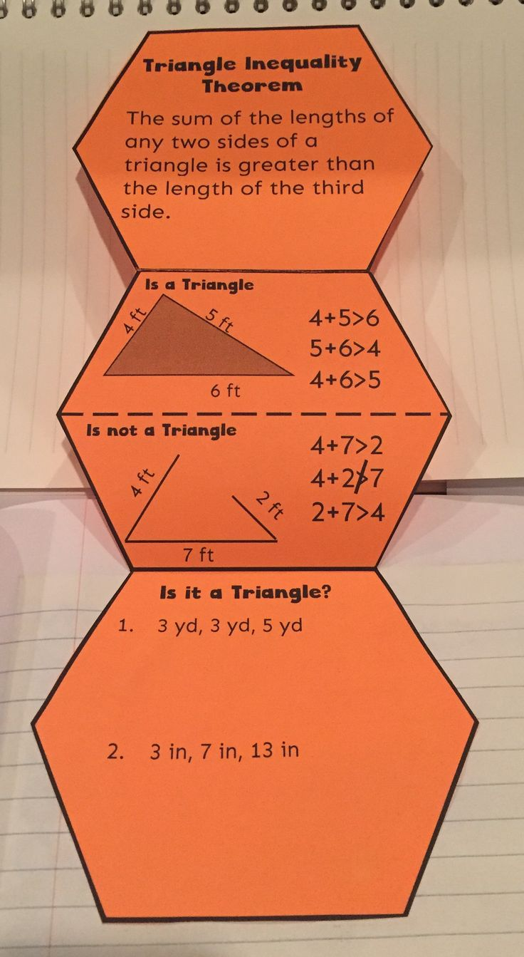 Triangle Inequality Theorem--A foldable and journaling for students to explain when side lengths make a triangle.