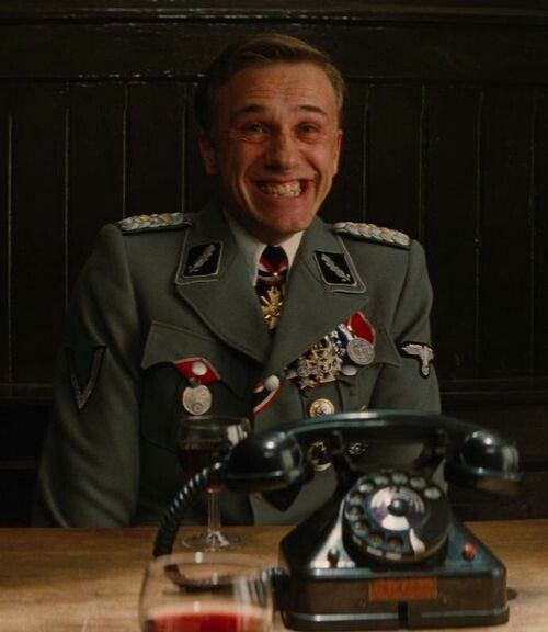 Inglorious Basterds. Christoph Waltz is insanely good as the most chilling villain ever...never has any actor more deserved his Oscar!