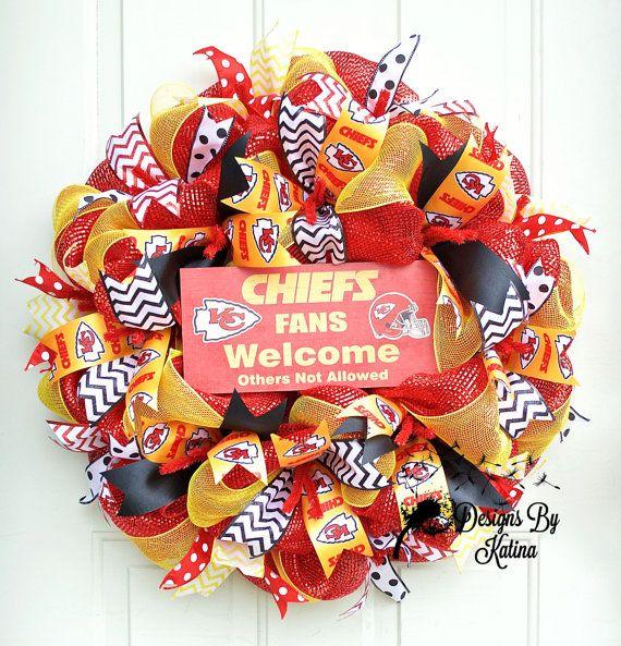 Kansas City Chiefs Wreath Kansas City Chiefs by DesignsByKatina