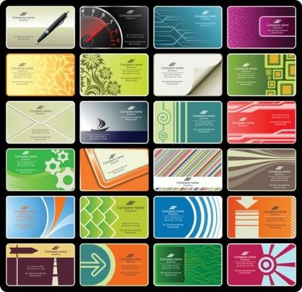 a variety of beautiful card template vector