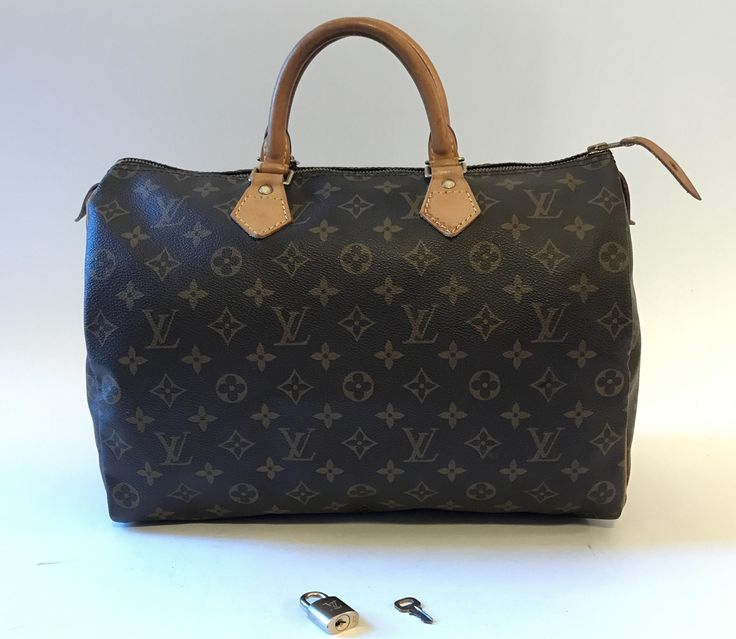Louis Vuitton Monogram Canvas Speedy 35 Brown Satchel. Save 70% on the Louis Vuitton Monogram Canvas Speedy 35 Brown Satchel! This satchel is a top 10 member favorite on Tradesy. See how much you can save