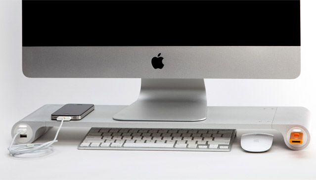 The Space Bar desk organiser really is designed to be simple and look good with your Apple products while de-cluttering your workspace and providing more USB ports! Winning at $79.