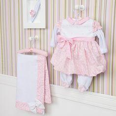 Saída Maternidade Vestido Balonê Alicie