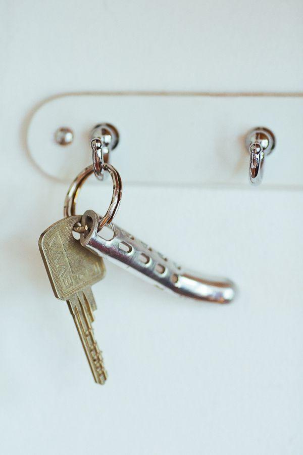 Ein Schlüsselanhänger aus einem alten Bremshebel :-)