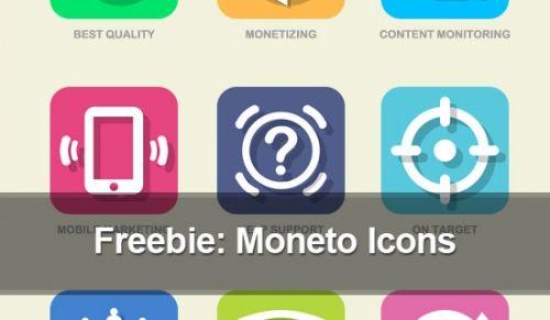 Бесплатная раздача: Плоские иконки функциональных возможностей Moneto