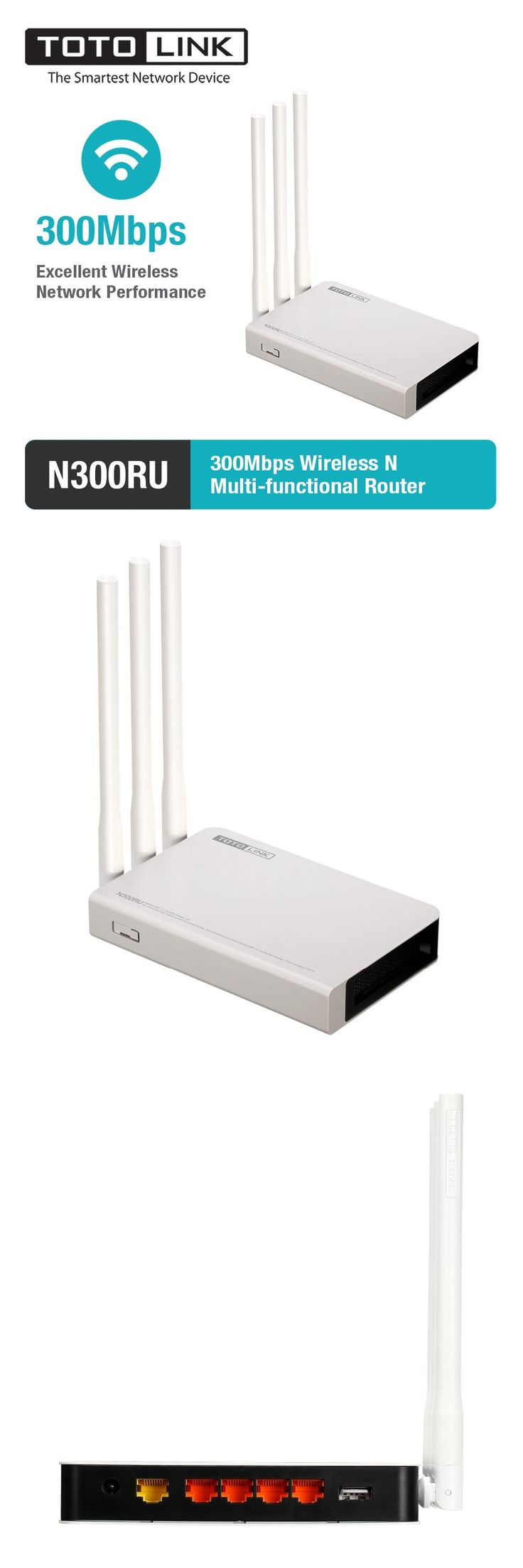[Visit to Buy] TOTOLINK N300RU Wireless N 300Mbps WiFi Router WiFi Repeater with USB 2.0 Port Supports Printer Server/FTP Server #Advertisement