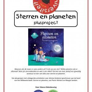 20150073-plusproject-sterren-en-planeten-1 Waarom ziet de maan er soms anders uit? Is de zon een ster? Welke planeten zijn er allemaal? Wat zijn sterrenbeelden en wat is een sikkel? Ga met ons mee, beleef een geweldig avontuur en leer van alles over sterren en planeten.  Een plusproject met uitdagende activiteiten voor slimme kinderen geschreven aan de hand van het Willewete boek: Sterren en planeten, van Pierre Winters en Margot Senden.