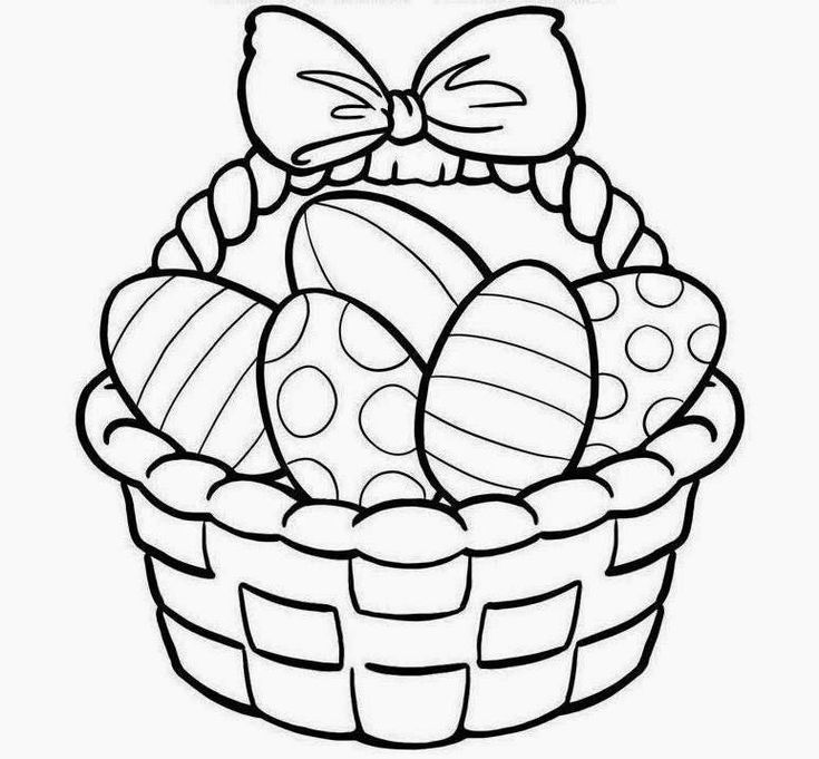 Easter Basket Drawings Free Easter Coloring Pages Bunny