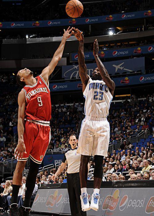 Jason Richardson, Orlando Magic. 17 février 2012, vs Bucks.