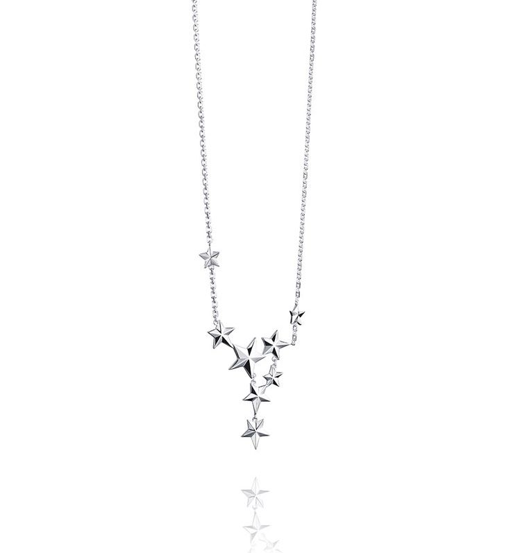 Catch A Falling Star Necklace - Silver - Necklaces - Efva Attling. In 925 sterling silver with stars.
