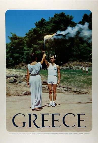 VISIT GREECE| 1960' GNTO posters #greece #Olympia #olympicgames