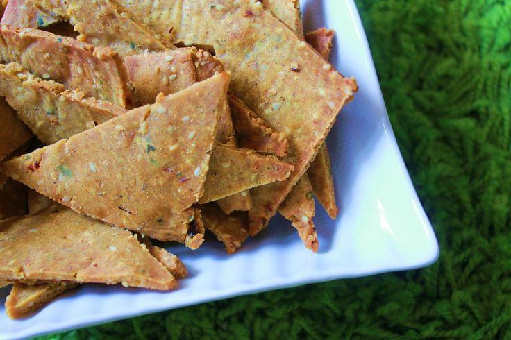 Biscuits salés et épicés pour l'apéro - sans gluten et sans lait de vache