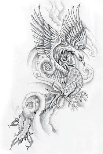 Resultado de imagem para fenix desenhos