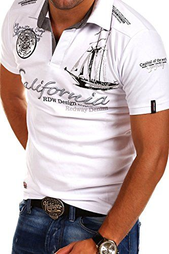 MT Styles Poloshirt CALFOR T-Shirt R-2371 [Weiß, M]