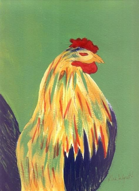 Art: Red Eye Rooster by Artist Kim Wyatt