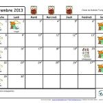 Calendriers du mois pour les parents (août 2014 à juin 2015) en format WORD