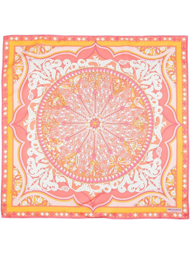 Emilio Pucci Square Scarf in Pink (multicolour)
