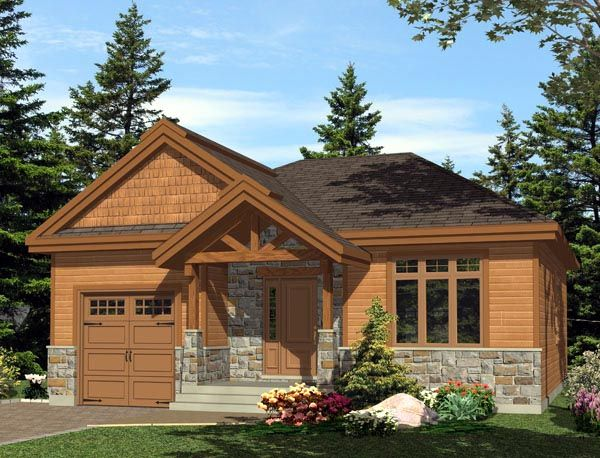 House Plan 48289 |  Plan with 985 Sq. Ft., 2 Bedrooms, 1 Bathrooms, 1 Car Garage