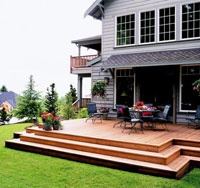 Decks without railings home improvement diy pinterest for Building a low profile deck