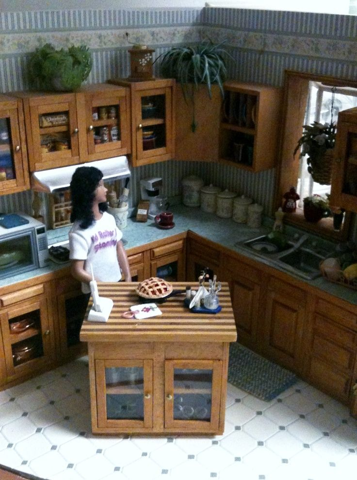 Kitchen Roombox In 1 12 Scale Dolls House Interiors Diy Dollhouse Furniture Barbie Kitchen