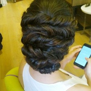 persian wedding hair and makeup in Rome italy