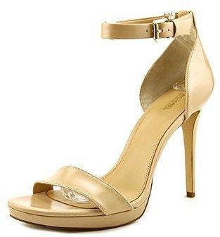 MICHAEL Michael Kors Sienna Sandal Women Open Toe Leather Nude Sandals.