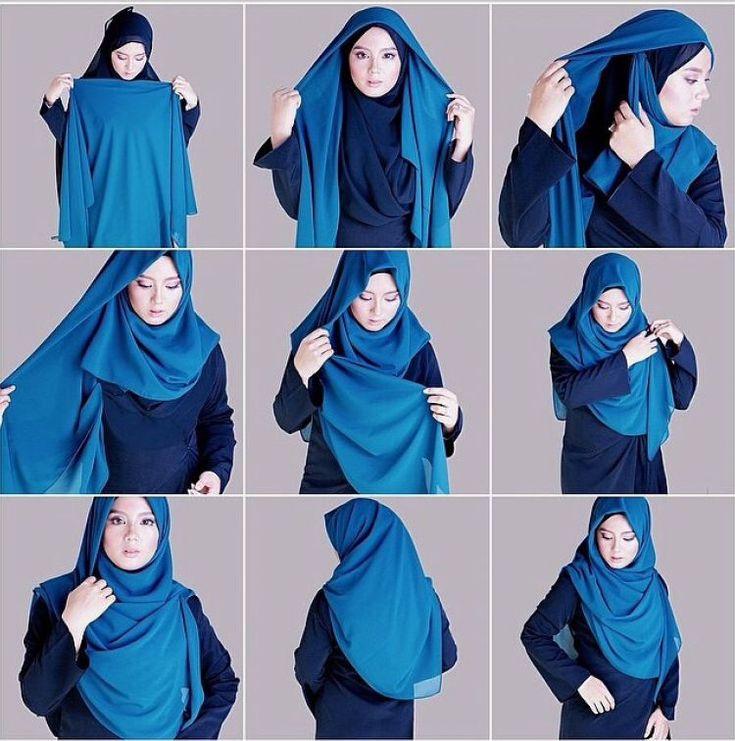 Turorial hijab yang menutup dada