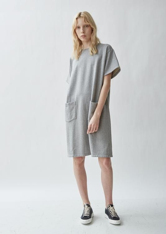 1bff6bd68c5 French Terry Tunic Dress - Large   Top Gray in 2019