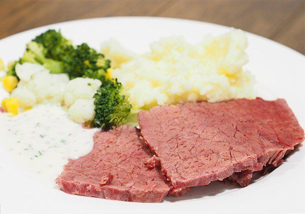 This slow cooked silverside with mustard parsley sauce is fuss free, so very tender and is really simple to put together