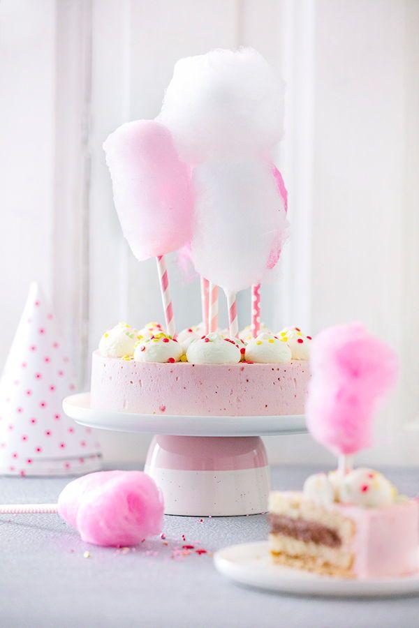 Kindergeburtstagstorte / Geburtstagstorte leicht gemacht! Unser Tipp: Zuckerwatt …   – Torten