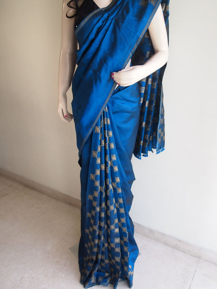 Teal Pure Silk Kanjivaram Saree