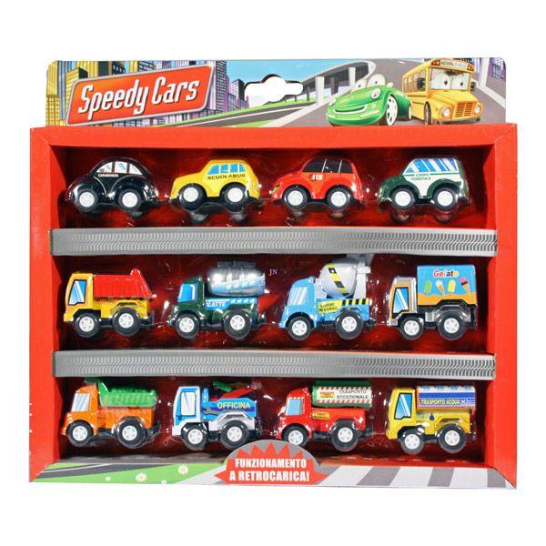Speedy Cars: személy- és teherautók - 12 darabos készlet - . kép