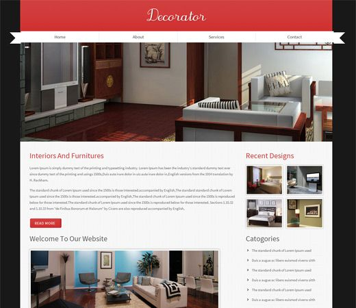 87 Interior Design Free Responsive Template Free Responsive Interior Design Wordpress