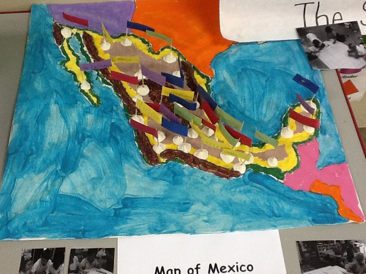 Map of Mexico-Using Playdough and Paint-Mexico Unit
