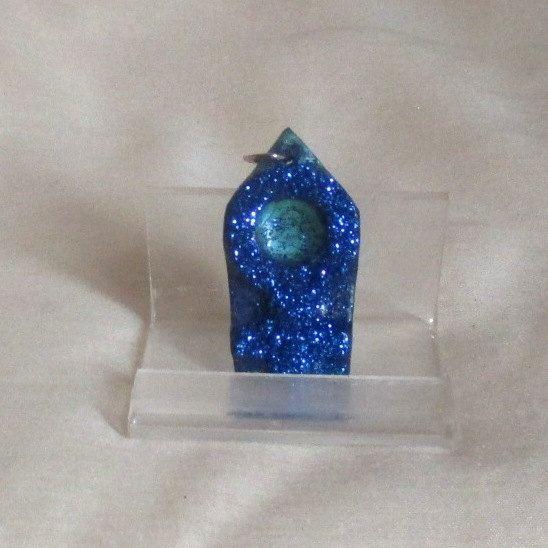 VENERE Pendente con Glitter Blu Unico  VENUS di JoySaccoART