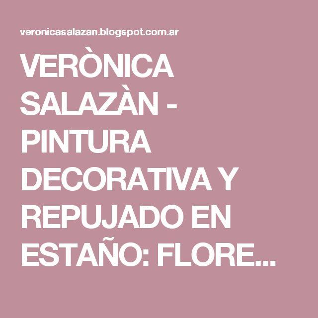 VERÒNICA SALAZÀN - PINTURA DECORATIVA Y REPUJADO EN ESTAÑO: FLORERO BORDÓ CON ESTAÑO FINO CALADO DISEÑO ANDALUZ